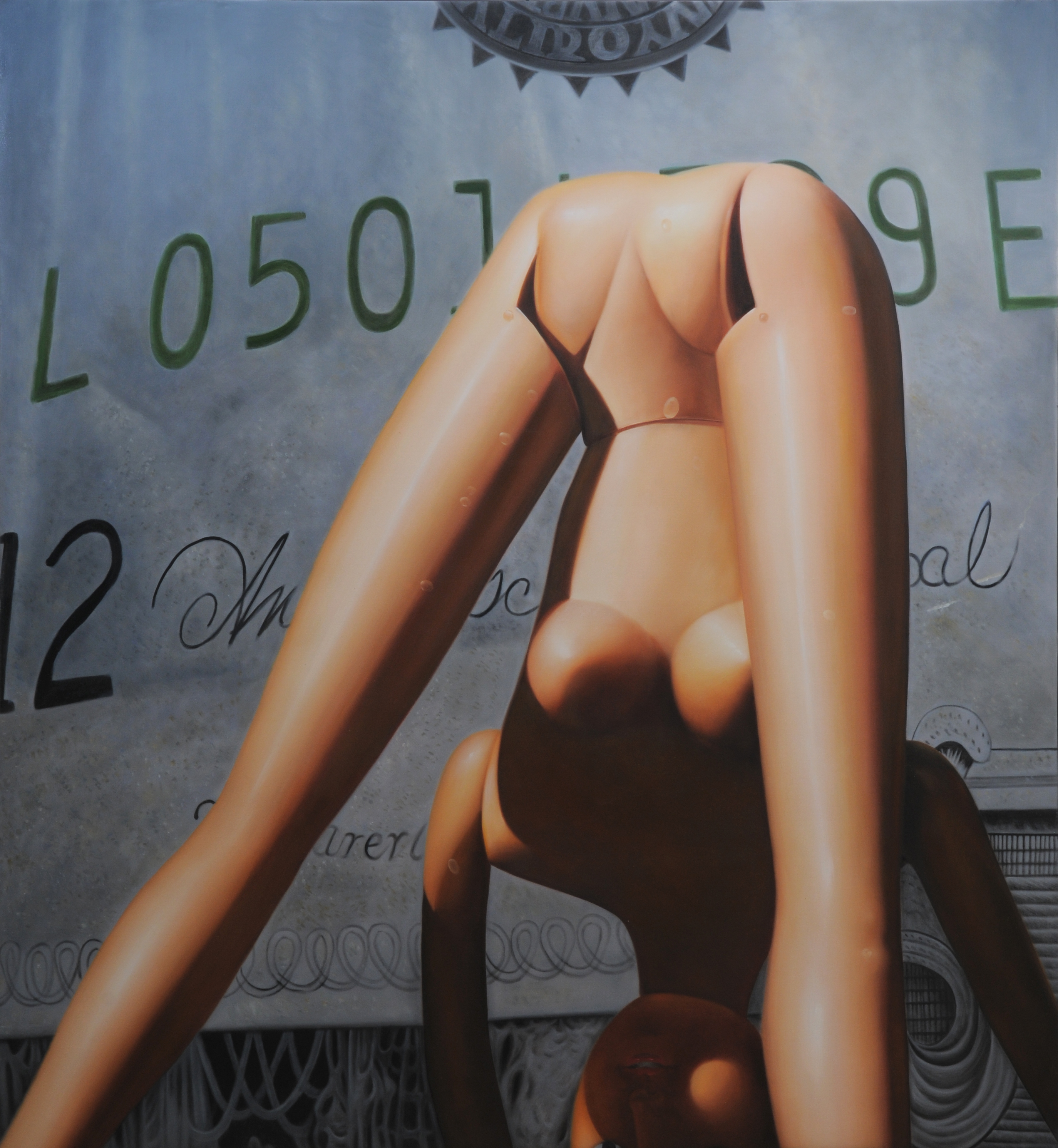 """L0501"" Oil on Canvas, 2008 Oil on canvas 59 1/10 × 54 3/10 in 150 × 138 cm"