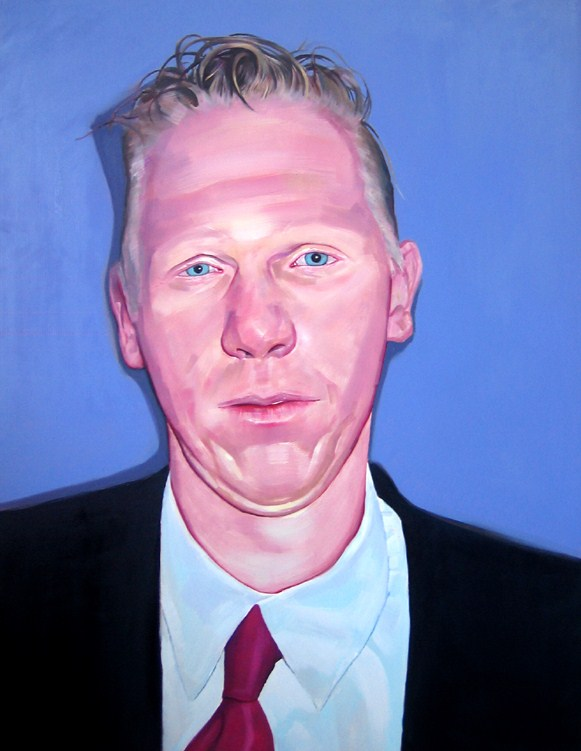 Blu Eyes, 2007 Oil on Canvas 57 1/2 × 44 9/10 in 146 × 114 cm