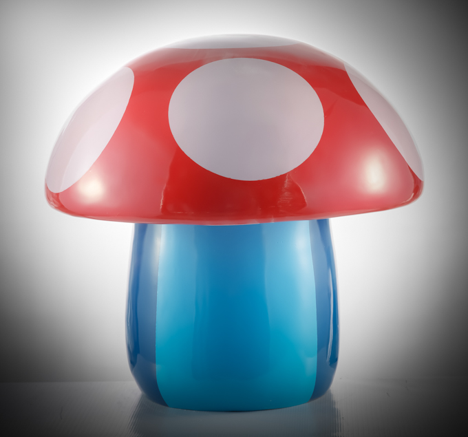 """CRAZYMUSHROOMS"" Resin 50cm, 2015 Resin FiberGlass Painted and Varnished 19 7/10 × 19 7/10 × 19 7/10 in 50 × 50 × 50 cm Unique"