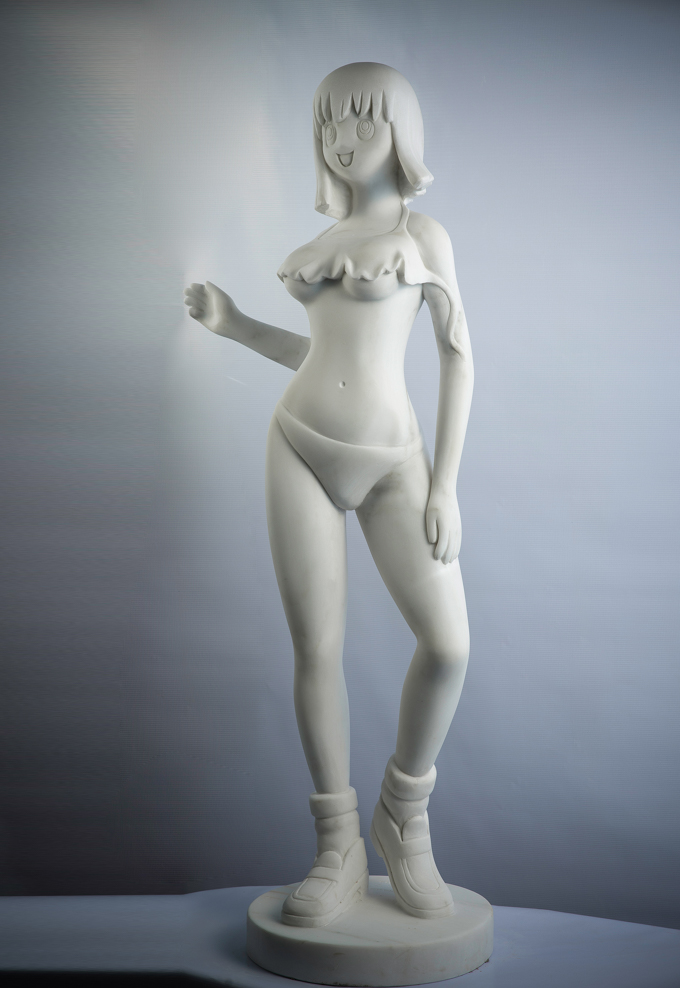 """YUMI2 Serie of 5 LOVEDOLLS"" WhiteMarble 130cm, 2015 White Marble Carved 51 1/5 in 130 cm Edition of 8"