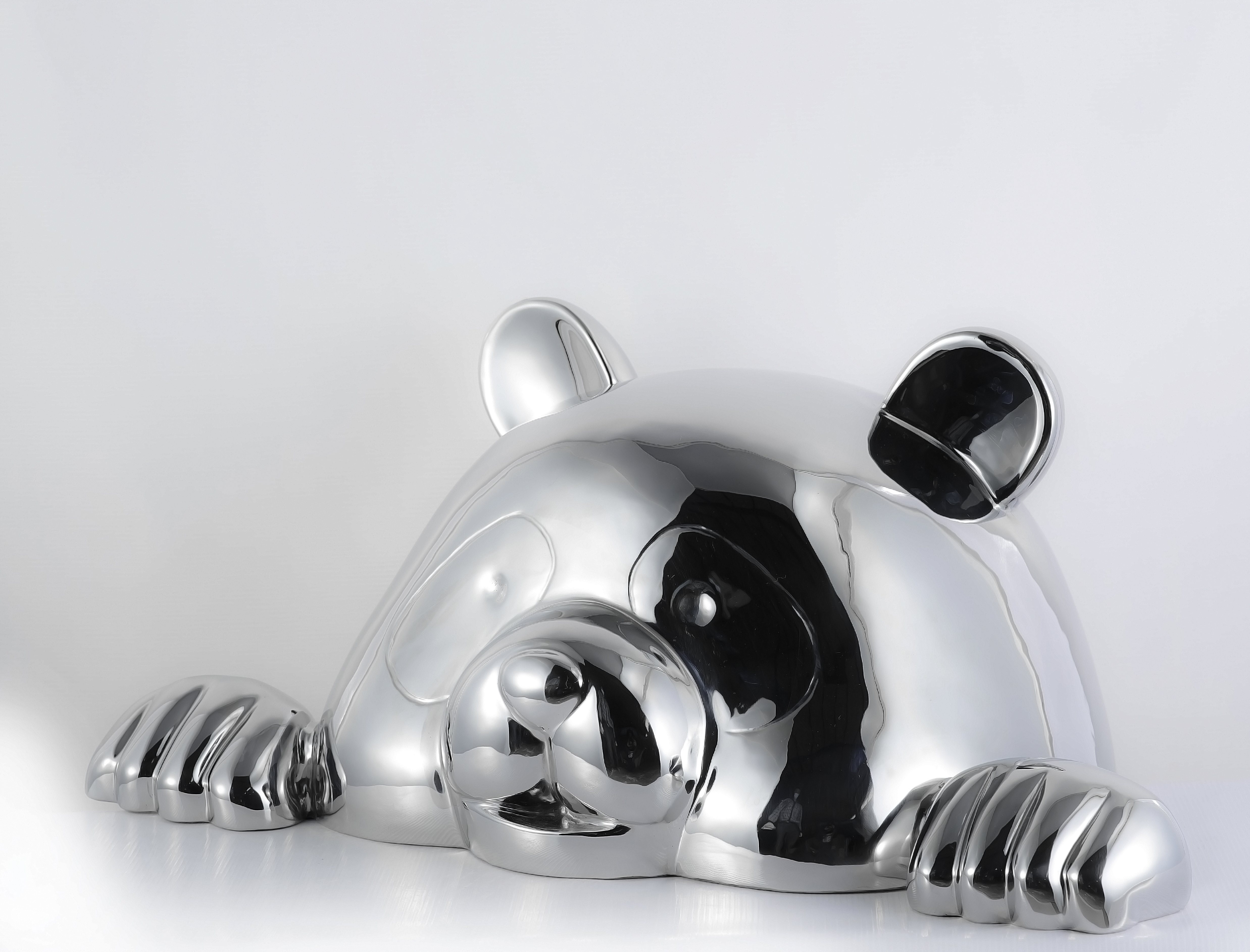 """HELLOPANDASAN"" 30cm, 2015 Stainless Steel Polished 11 4/5 × 27 3/5 × 15 7/10 in 30 × 70 × 40 cm Edition of 8"
