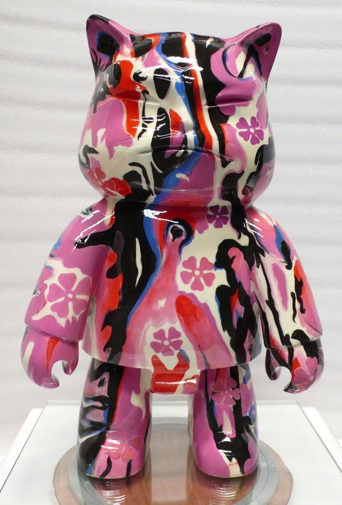 """""""ROBOTCAT SPINK"""" 60cm , 2006 Cast Bronze Handpainted & Varnished 23 3/5 in 60 cm"""