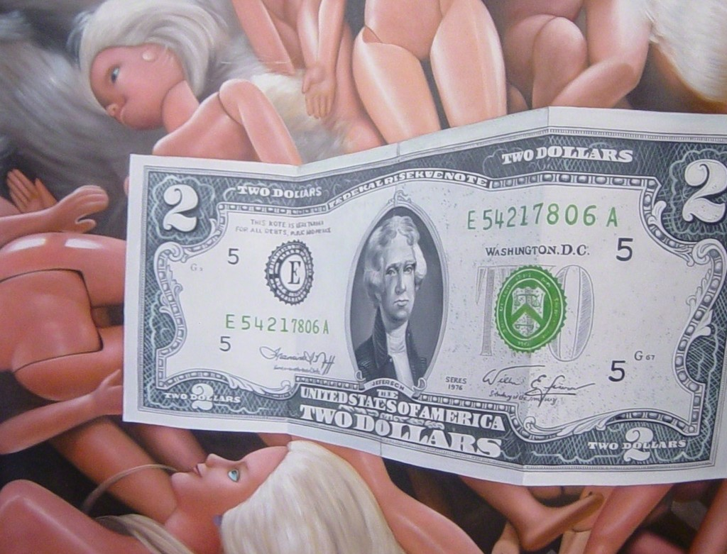"""ORGY"", 2009 Oil on Canvas 57 1/2 × 44 9/10 in 146 × 114 cm"